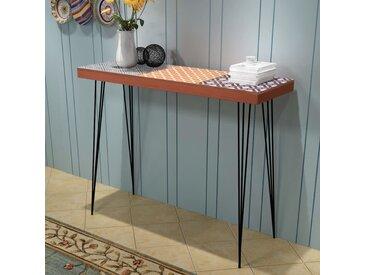 Table console 90 x 30 x 71,5 cm Marron - vidaXL