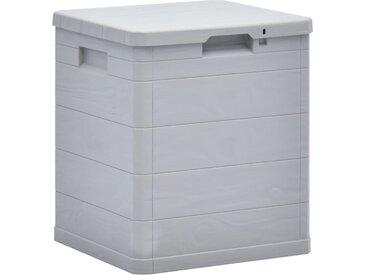 Boîte de rangement de jardin 90 L Gris clair - vidaXL