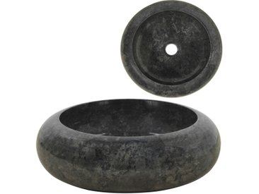 Lavabo 40 x 12 cm Marbre Noir - vidaXL