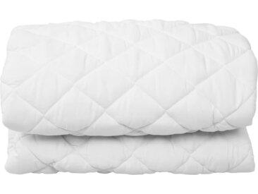 Couvre-matelas matelassé Blanc 180x200 cm Lourd - vidaXL