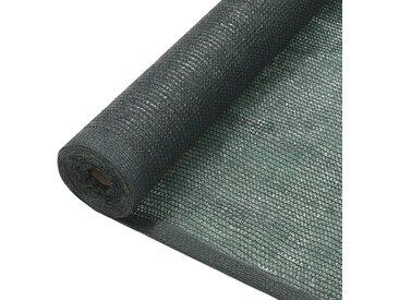 Filet brise-vue PEHD 1,5 x 10 m Vert - vidaXL