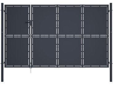 Portail de jardin Acier 350 x 150 cm Anthracite - vidaXL