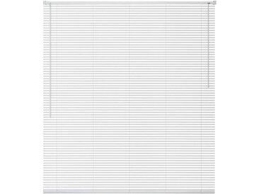 Store Aluminium 120 x 130 cm Blanc - vidaXL