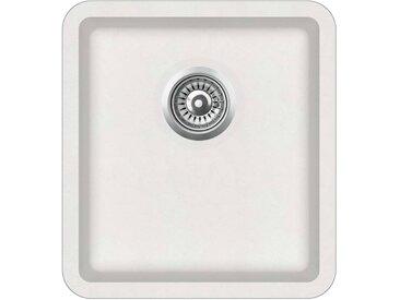 Évier de cuisine Granit Seul lavabo Blanc - vidaXL