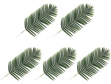5 pcs Feuilles artificielles de palmier Vert 125 cm - vidaXL