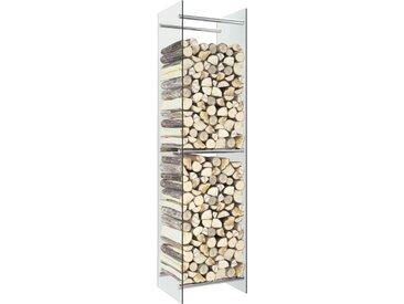 Portant de bois de chauffage Transparent 40x35x160 cm Verre - vidaXL