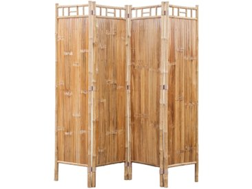 Cloison de séparation à 4 panneaux Bambou - vidaXL
