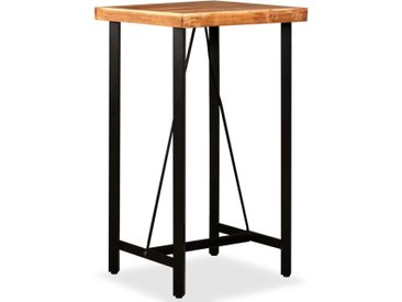 Table de bar Bois massif d'acacia 60x60x107 cm - vidaXL