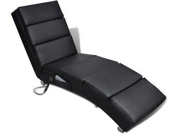 Fauteuil de massage Noir Similicuir - vidaXL