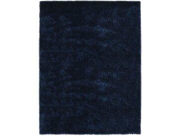 Tapis Shaggy 140 x 200 cm Bleu - vidaXL