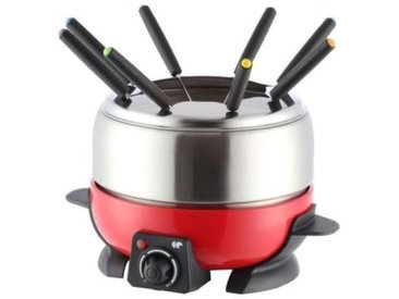 CONTINENTAL EDISON FD6RIX Appareil a fondue - Rouge - vidaXL