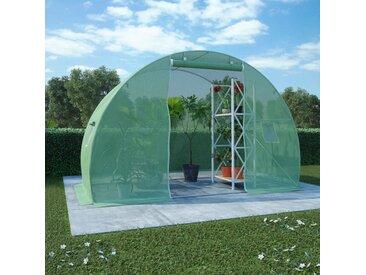 Serre avec fondation en acier 4,5 m² 300x150x200 cm - vidaXL
