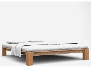 Cadre de lit Chêne solide 160x200 cm - vidaXL