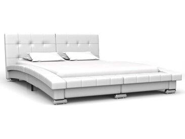 Cadre de lit Blanc Similicuir 200 x 140 cm - vidaXL