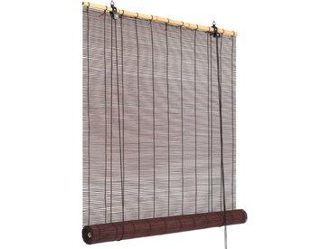 Store roulant Bambou 140 x 160 cm Marron foncé - vidaXL