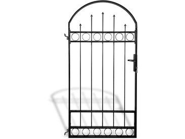 Portail de clôture avec dessus arqué 100 x 200 cm - vidaXL