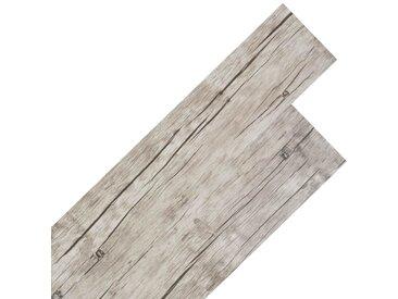 Planche de plancher PVC autoadhésif 5,02 m² 2 mm Chêne délavé - vidaXL