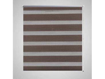 Store enrouleur tamisant 140 x 175 cm marron - vidaXL