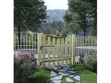 Portail de jardin Pin imprégné 100 x 100 cm - vidaXL