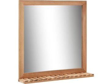Miroir de salle de bain 60 x 12 x 62 cm Bois de noyer massif - vidaXL