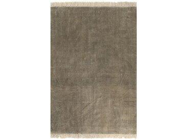 Tapis Kilim Coton 160 x 230 cm Taupe - vidaXL