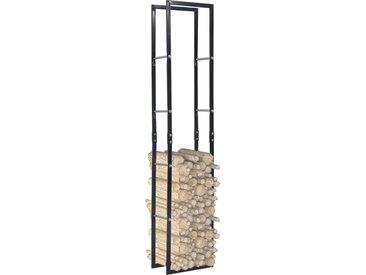 Portant de bois de chauffage Noir 40x25x200 cm Acier - vidaXL