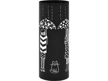 Porte-parapluie Femmes Acier Noir  - vidaXL