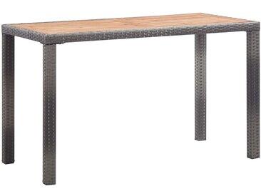 Table de jardin Anthracite et marron 123x60x74 cm Bois d'acacia - vidaXL