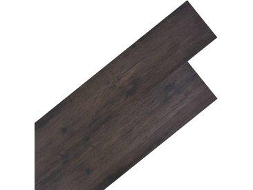 Planche de plancher PVC 5,26 m² 2 mm Gris foncé Chêne  - vidaXL