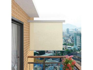 Auvent latéral de balcon multifonctionnel 150 x 200 cm Crème - vidaXL