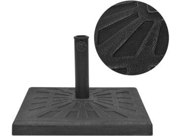 Base carrée de parasol Résine Noir 19 kg - vidaXL