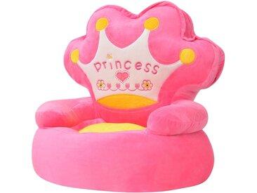 Chaise en peluche pour enfants Princesse Rose - vidaXL