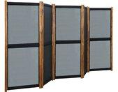 Cloison de séparation 5 panneaux Noir 350x170 cm - vidaXL