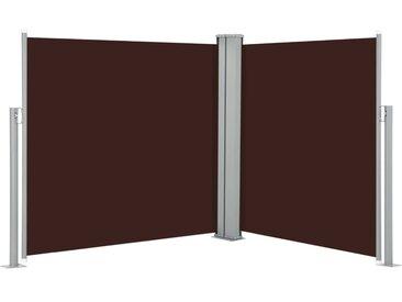 Auvent latéral rétractable Marron 100 x 600 cm - vidaXL