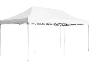 Tente de réception pliable Aluminium 6 x 3 m Blanc - vidaXL