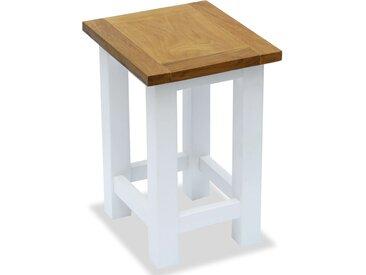 Table d'appoint 27 x 24 x 37 cm Bois de chêne massif - vidaXL