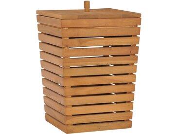 Panier à linge 30x30x45 cm Bois de teck massif - vidaXL