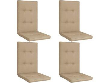 Coussins de chaise de jardin 4 pcs Beige 120x50x5 cm - vidaXL