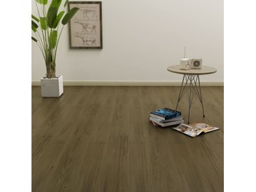 Plancher à enclenchement 3,51 m² 4 mm PVC Marron - vidaXL