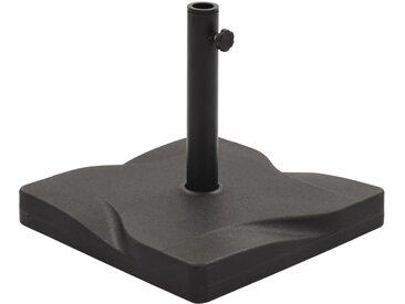 Socle de parasol Noir Carré 20 kg - vidaXL