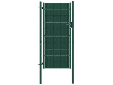 Portillon Acier 100x124 cm Vert   - vidaXL