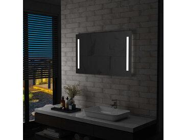 Miroir mural à LED pour salle de bains 100 x 60 cm - vidaXL