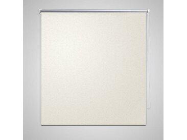 Store enrouleur occultant 140 x 230 cm crème - vidaXL