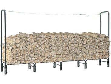 Portant de bois de chauffage Anthracite 240x35x120 cm Acier - vidaXL
