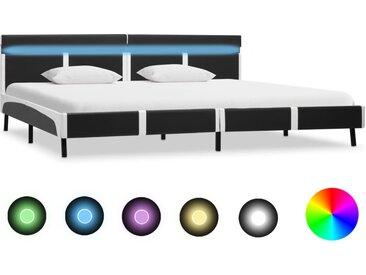 Cadre de lit avec LED Gris Similicuir 180 x 200 cm - vidaXL