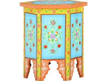 Table d'appoint peinte à main Multicolore 38x33x42 cm Manguier - vidaXL