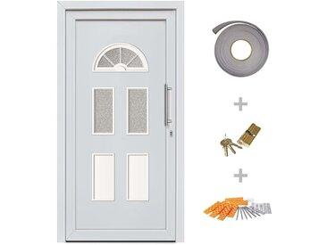 Porte d'entrée principale Blanc 98x198 cm - vidaXL