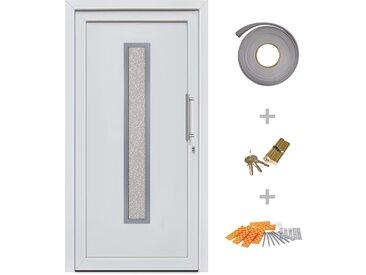 Porte d'entrée principale Blanc 108x208 cm - vidaXL