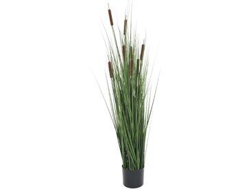 Plante artificielle avec scirpe 120 cm - vidaXL