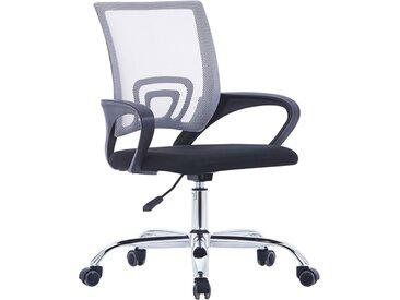 Chaise de bureau avec dossier en maille Gris Tissu - vidaXL